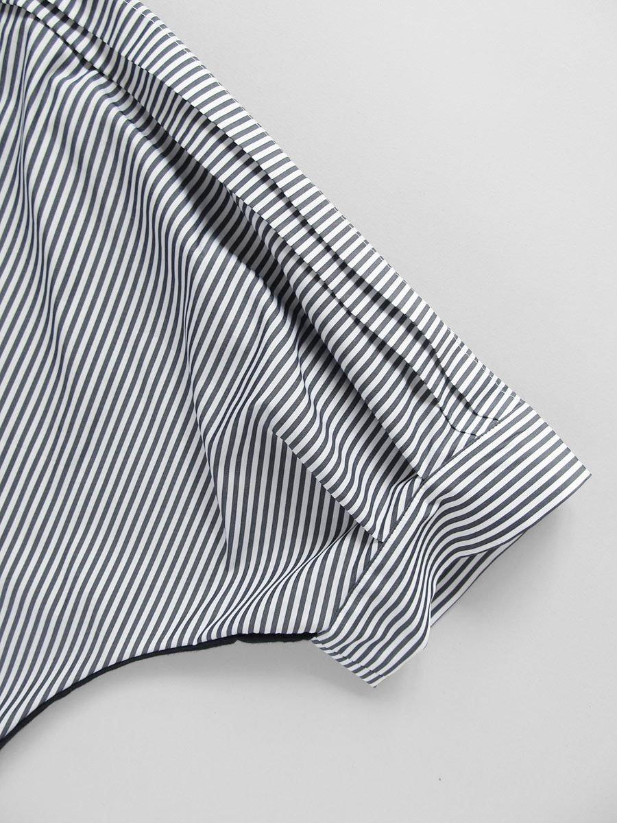 ストライプドルマンプルオーバー Dolman sleeve pullover 8