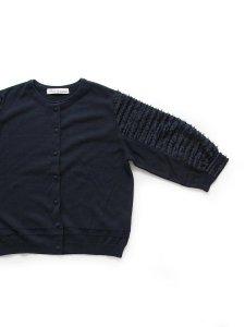 cotton knit×カットジャカードカーディガン