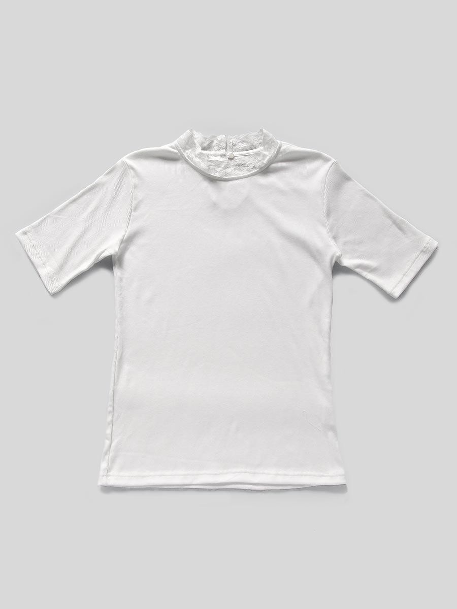 レース衿5分袖プルオーバー 2
