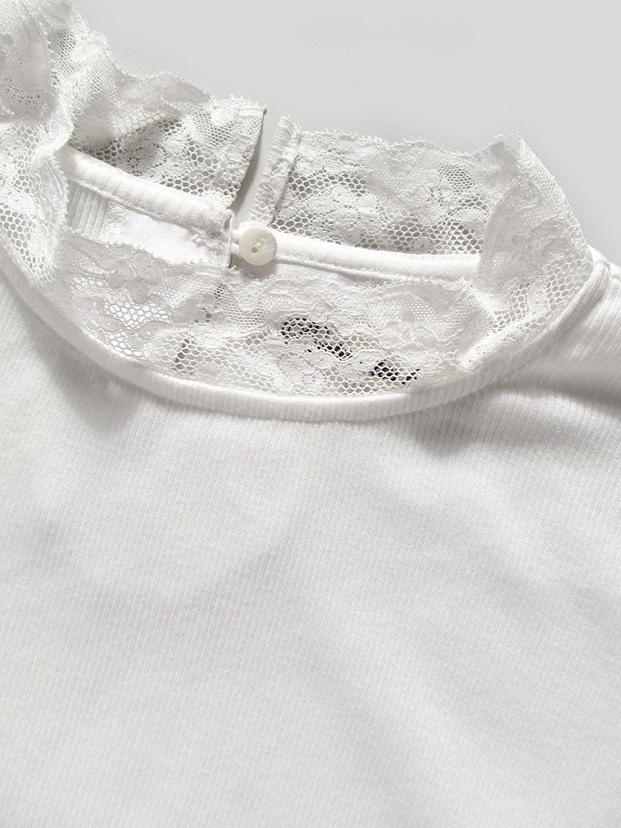 レース衿5分袖プルオーバー 6