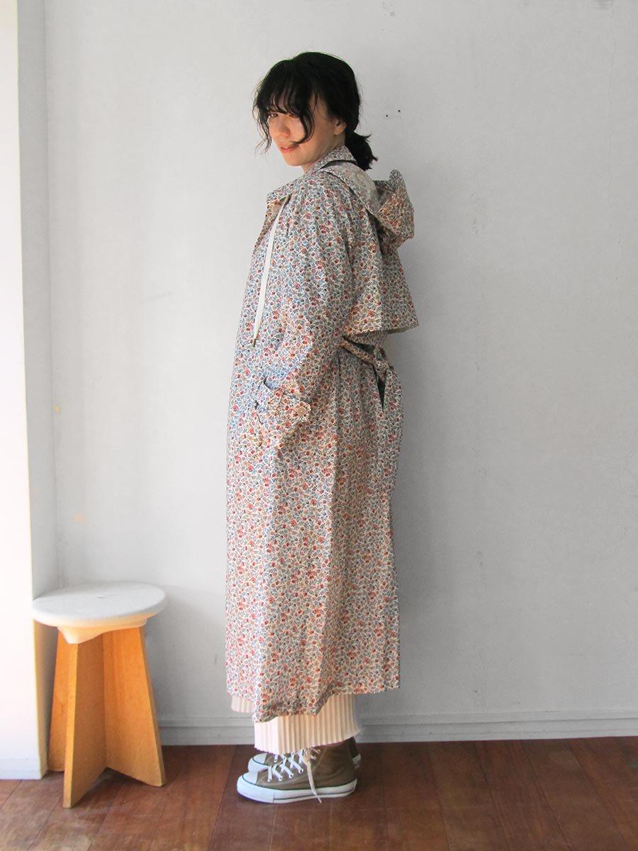 LIBERTY PRINTフーデッドトレンチ(2020 Spring Collection) 18