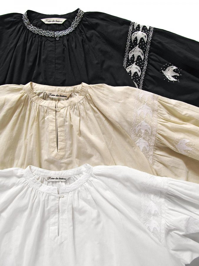 鳥の刺繍ブラウス(2020 Spring Collection) 1