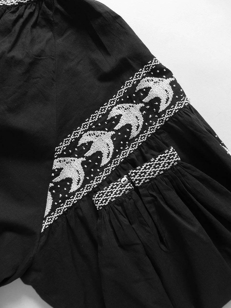鳥の刺繍ブラウス(2020 Spring Collection) 12