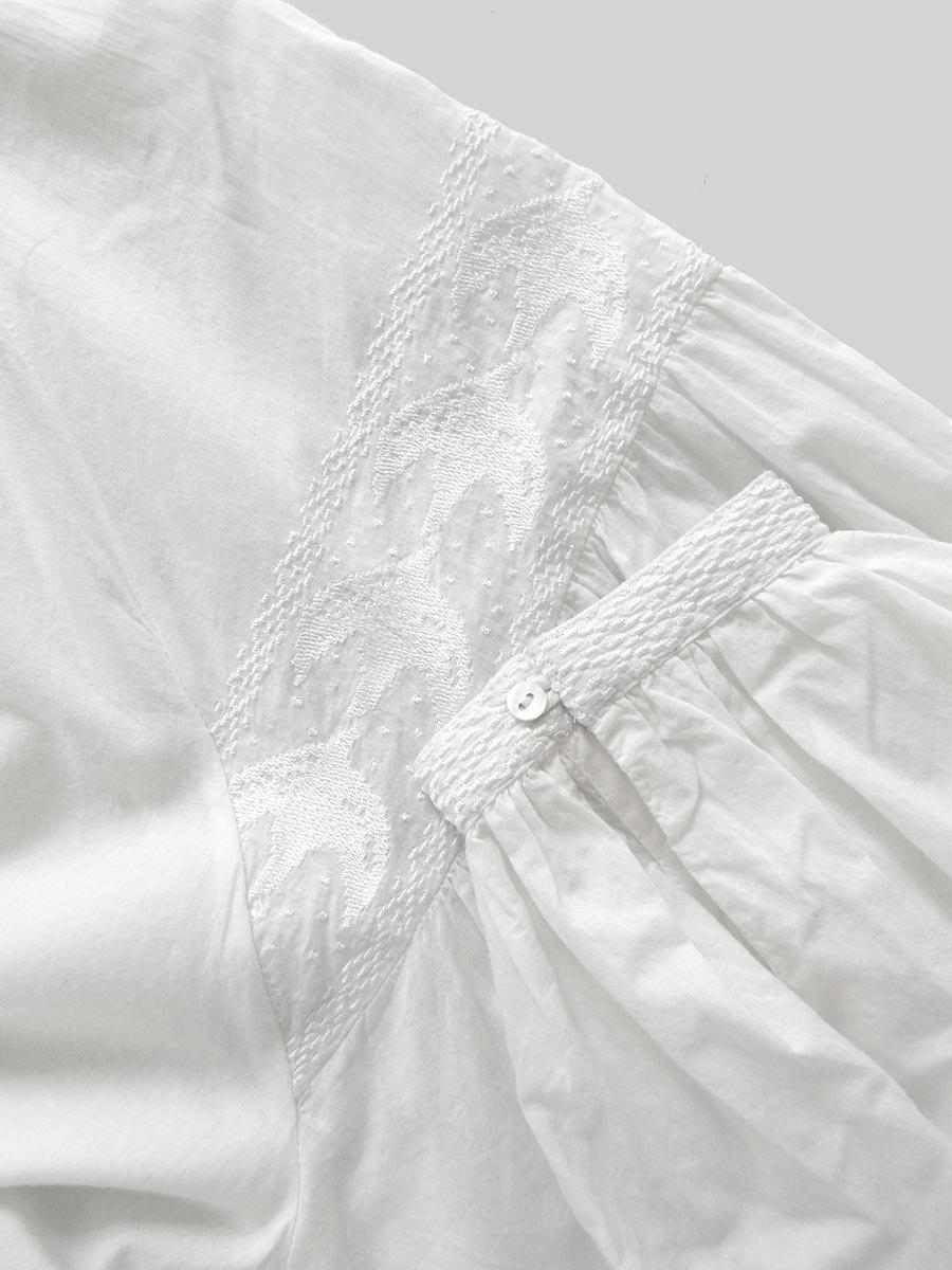 鳥の刺繍ブラウス(2020 Spring Collection) 5