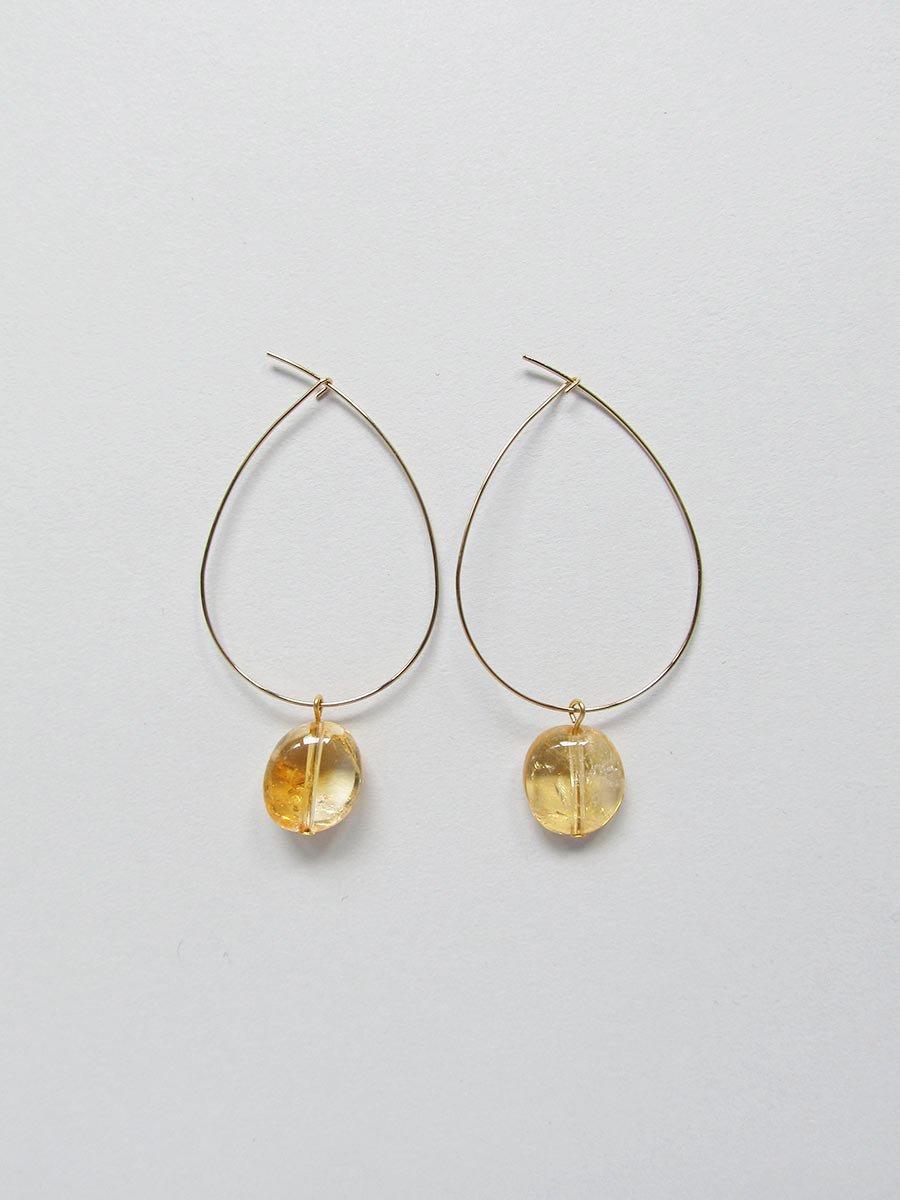 フープピアス/天然石(2020 Spring Collection) 3
