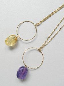 サークルネックレス/天然石(2020 Spring Collection)