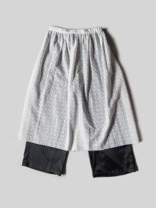エプロンスカート&パンツ/オフホワイト