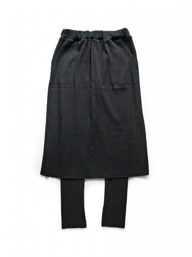 リブプリーツスカートセット ブラック(2020 Spring Collection) 1