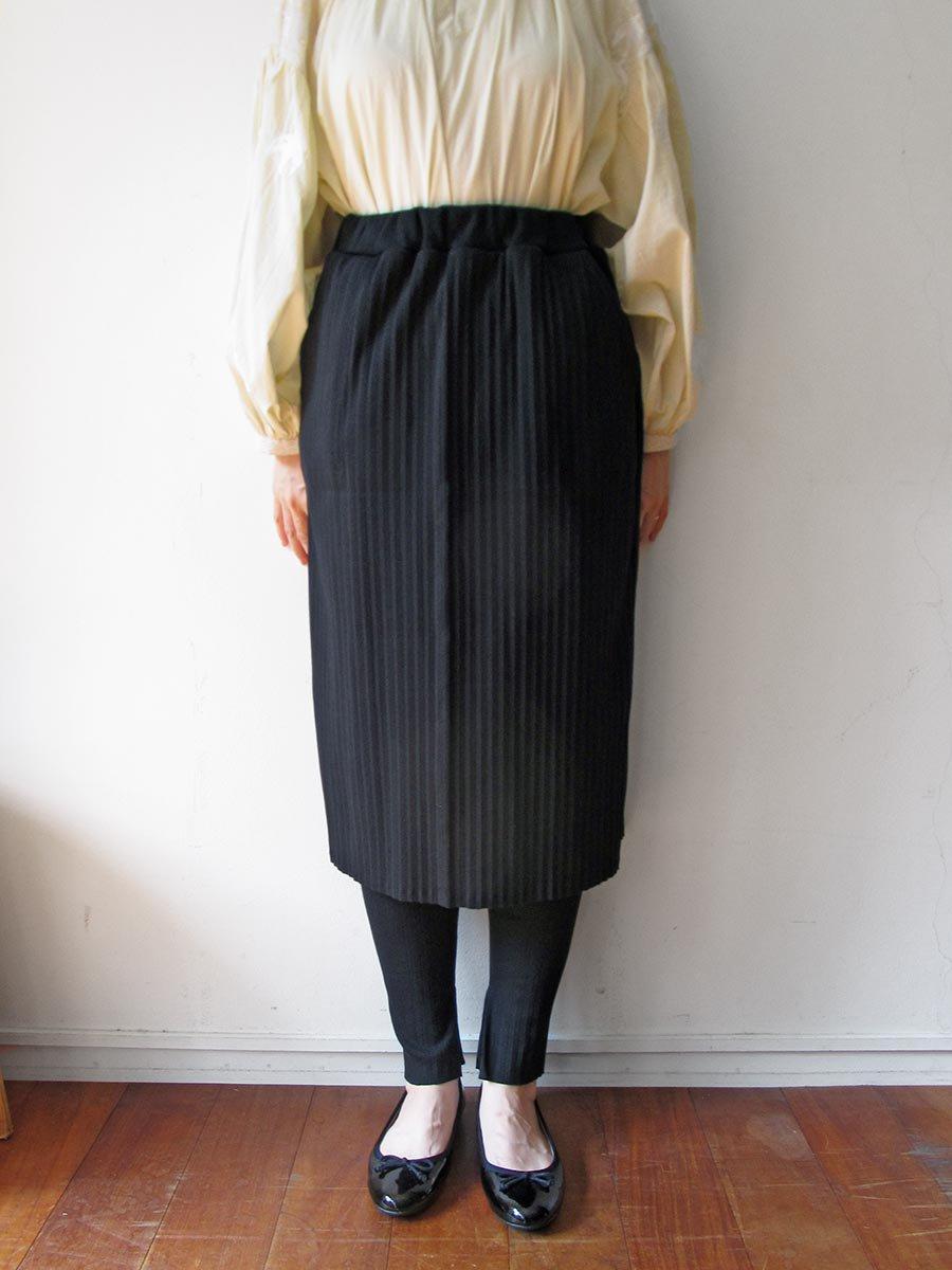 リブプリーツスカートセット ブラック(2020 Spring Collection) 13