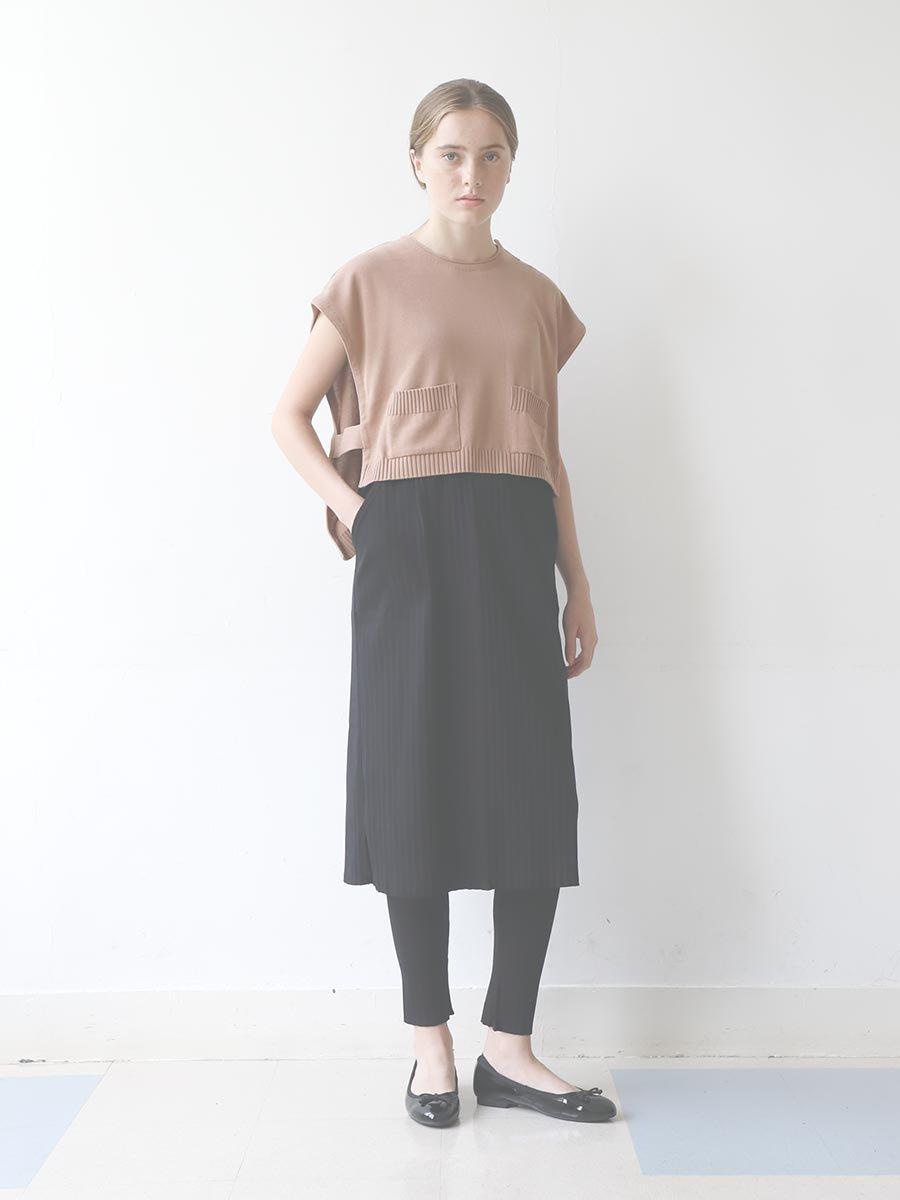 リブプリーツスカートセット ブラック(2020 Spring Collection) 17