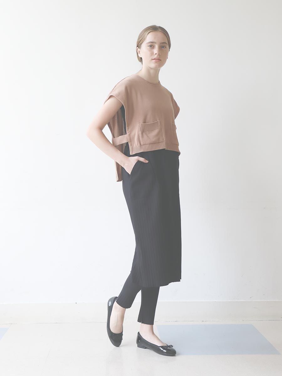 リブプリーツスカートセット ブラック(2020 Spring Collection) 18