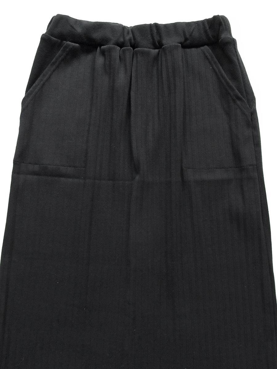 リブプリーツスカートセット ブラック(2020 Spring Collection) 4