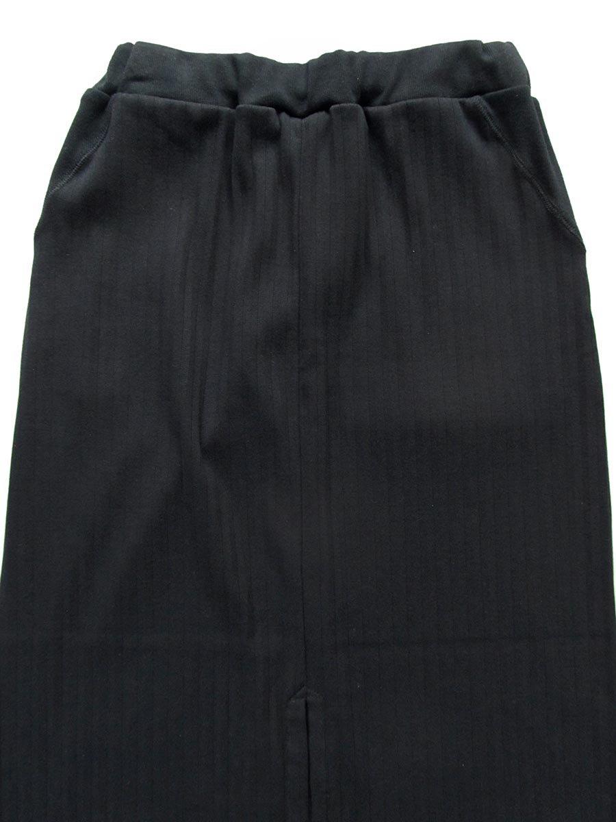 リブプリーツスカートセット ブラック(2020 Spring Collection) 5