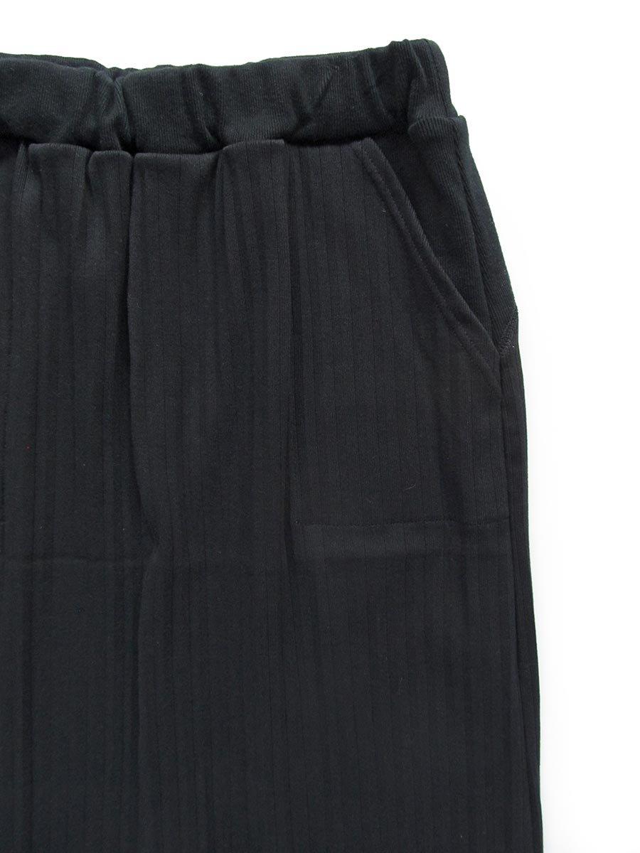 リブプリーツスカートセット ブラック(2020 Spring Collection) 6
