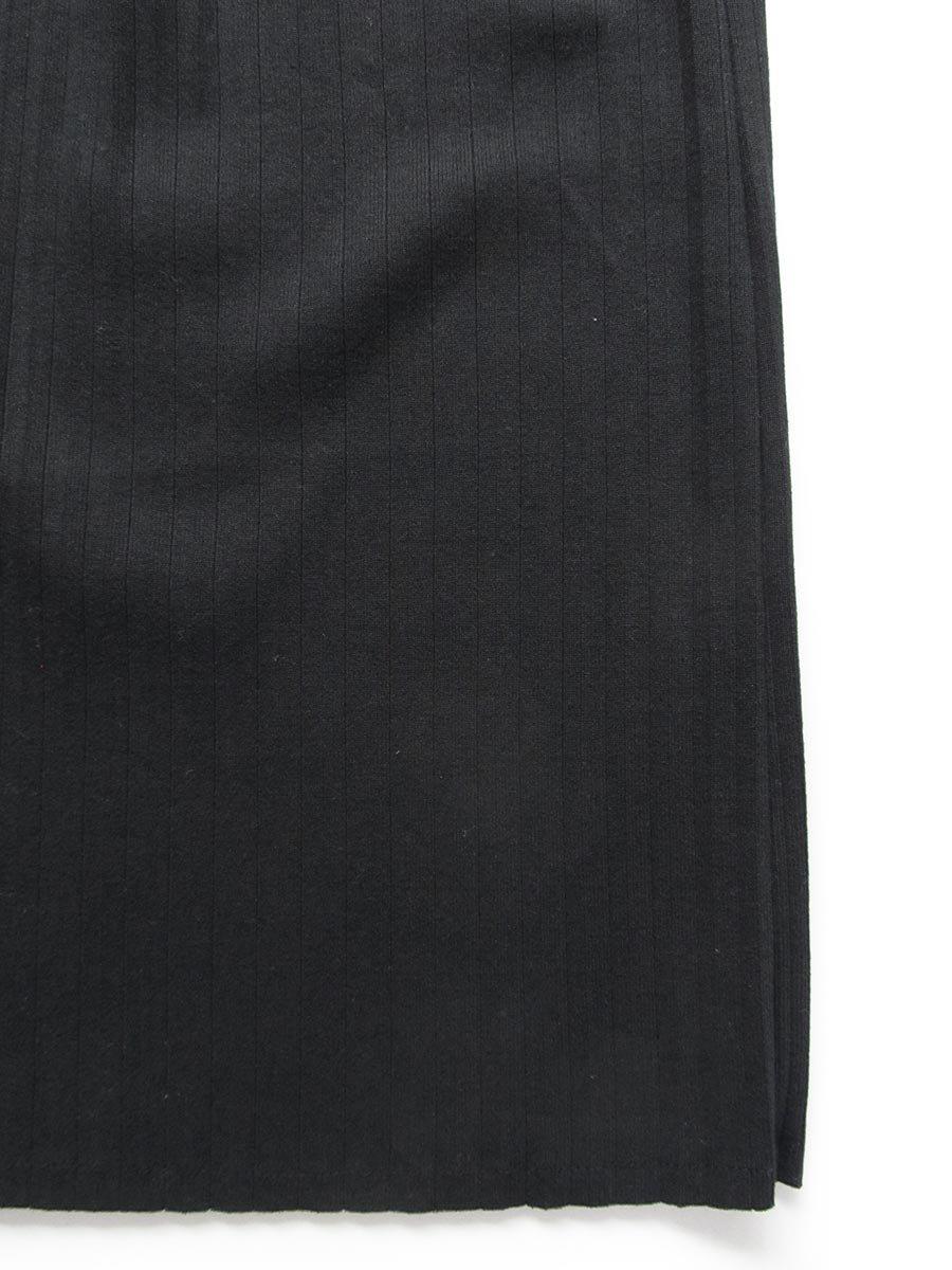 リブプリーツスカートセット ブラック(2020 Spring Collection) 7