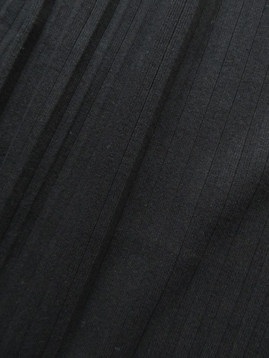 リブプリーツスカートセット ブラック(2020 Spring Collection) 8