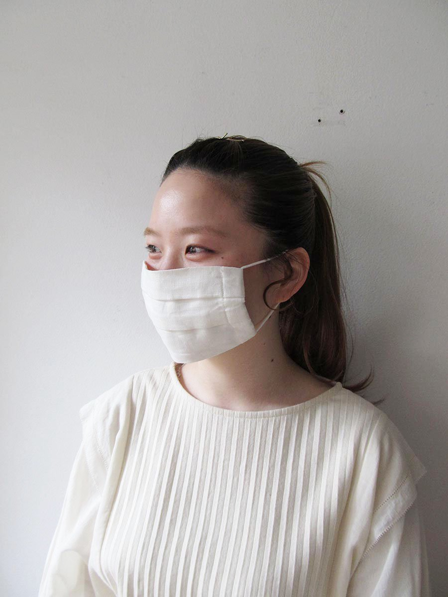 ☆ご予約 5月下旬〜6月上旬お届け分☆リネンマスク おとな用(男女兼用) 6