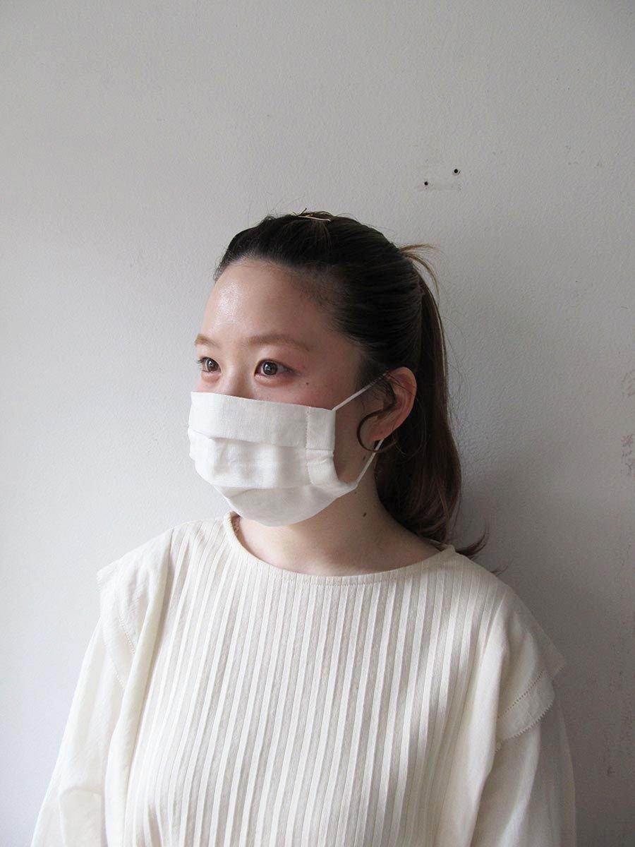 ☆ご予約 5月下旬〜6月上旬お届け分☆リネンマスク おとな用(男女兼用) 7