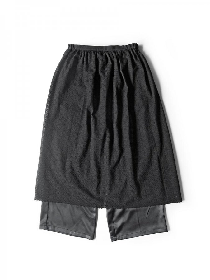 エプロンスカート&パンツ/ブラック(2020 Summer Collection) 1