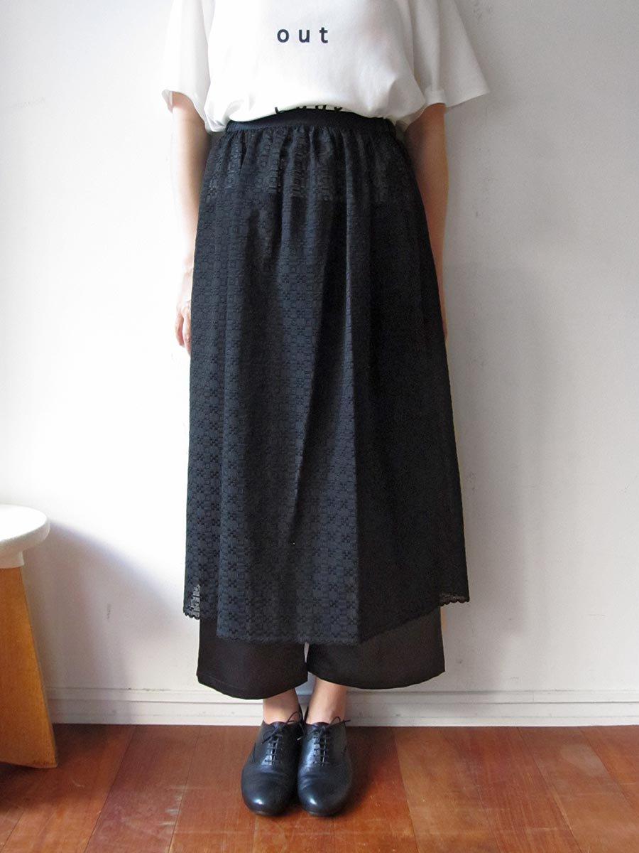 エプロンスカート&パンツ/ブラック(2020 Summer Collection) 10