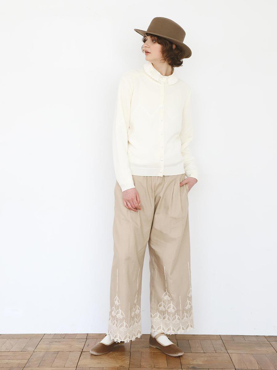 エンブロイダリーパンツ(2020-21 Autumn Collection) 17