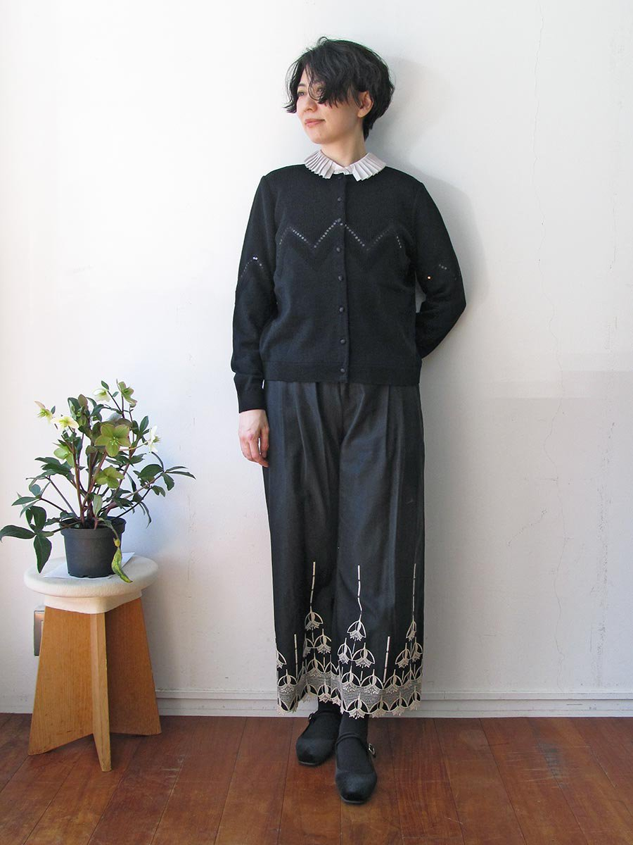 エンブロイダリーパンツ(2020-21 Autumn Collection) 10