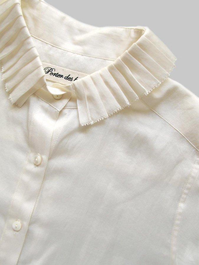 プリーツカラーシャツ(2020-21 Autumn Collection) 1