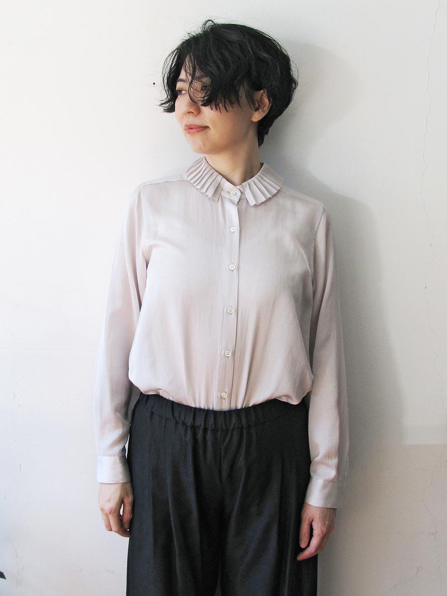プリーツカラーシャツ(2020-21 Autumn Collection) 15