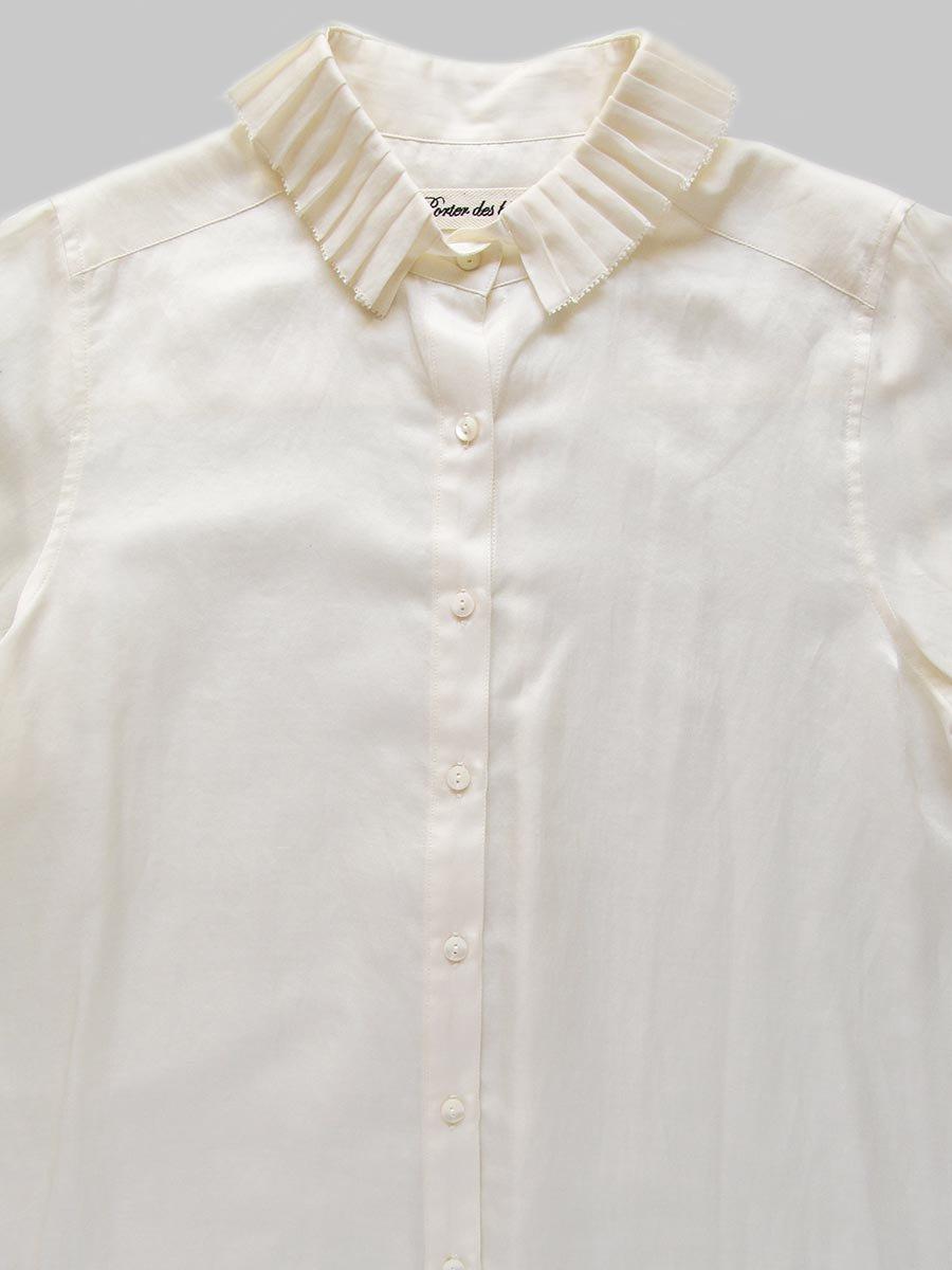 プリーツカラーシャツ(2020-21 Autumn Collection) 4