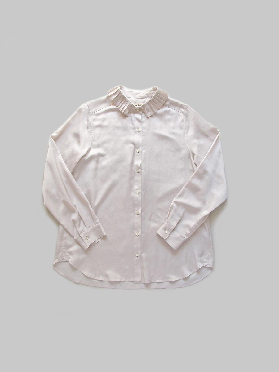 プリーツカラーシャツ(2020-21 Autumn Collection) 8