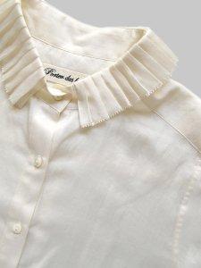 プリーツカラーシャツ(2020-21 Autumn Collection)