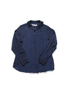 ドットプリントプリーツカラーシャツ(2020-21 Autumn Collection)