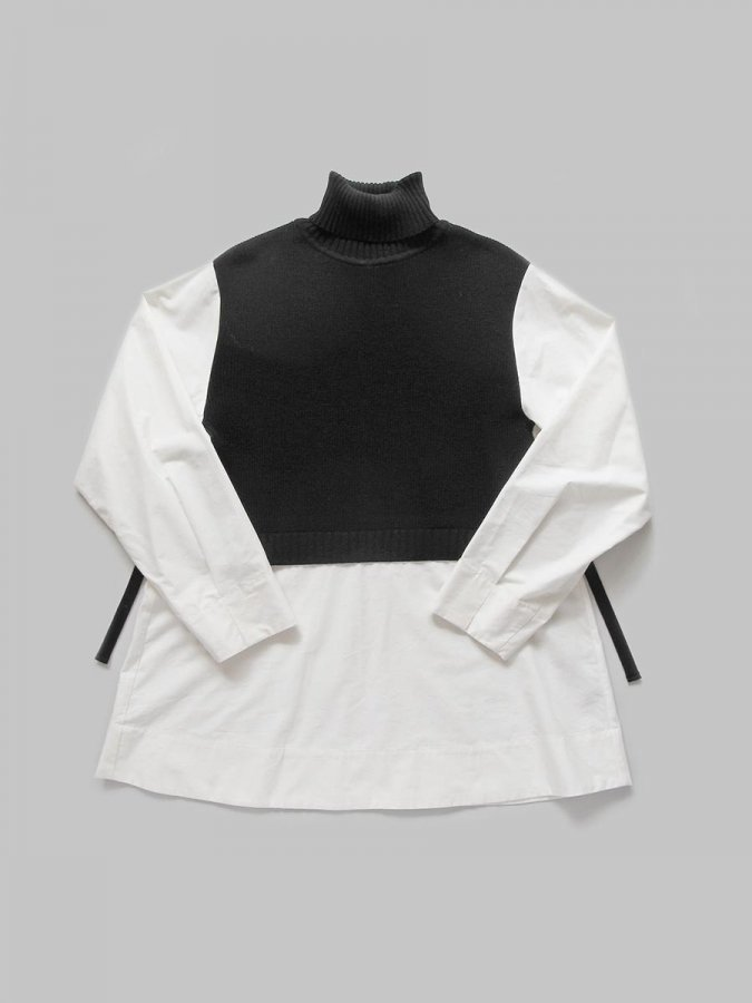 タートルネックニット×ロングシャツ(2020-21 Autumn Collection) 1