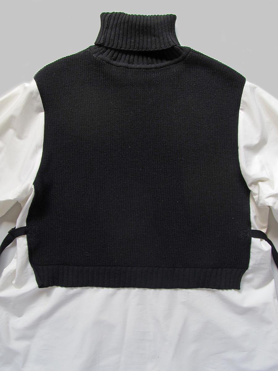 タートルネックニット×ロングシャツ(2020-21 Autumn Collection) 4
