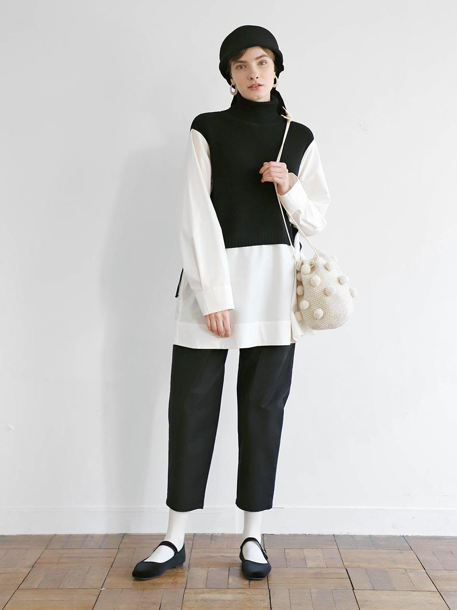 タートルネックニット×ロングシャツ(2020-21 Autumn Collection) 6