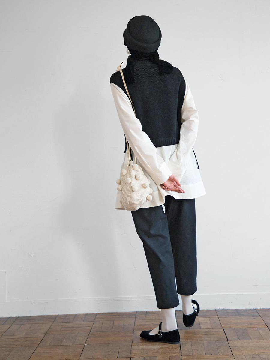 タートルネックニット×ロングシャツ(2020-21 Autumn Collection) 8
