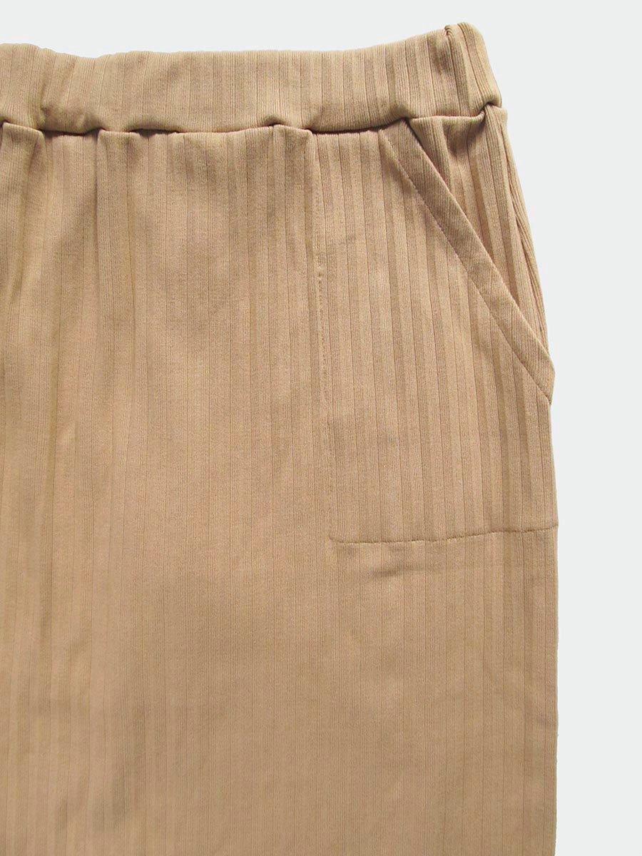リブプリーツスカートセット(オークル) 5