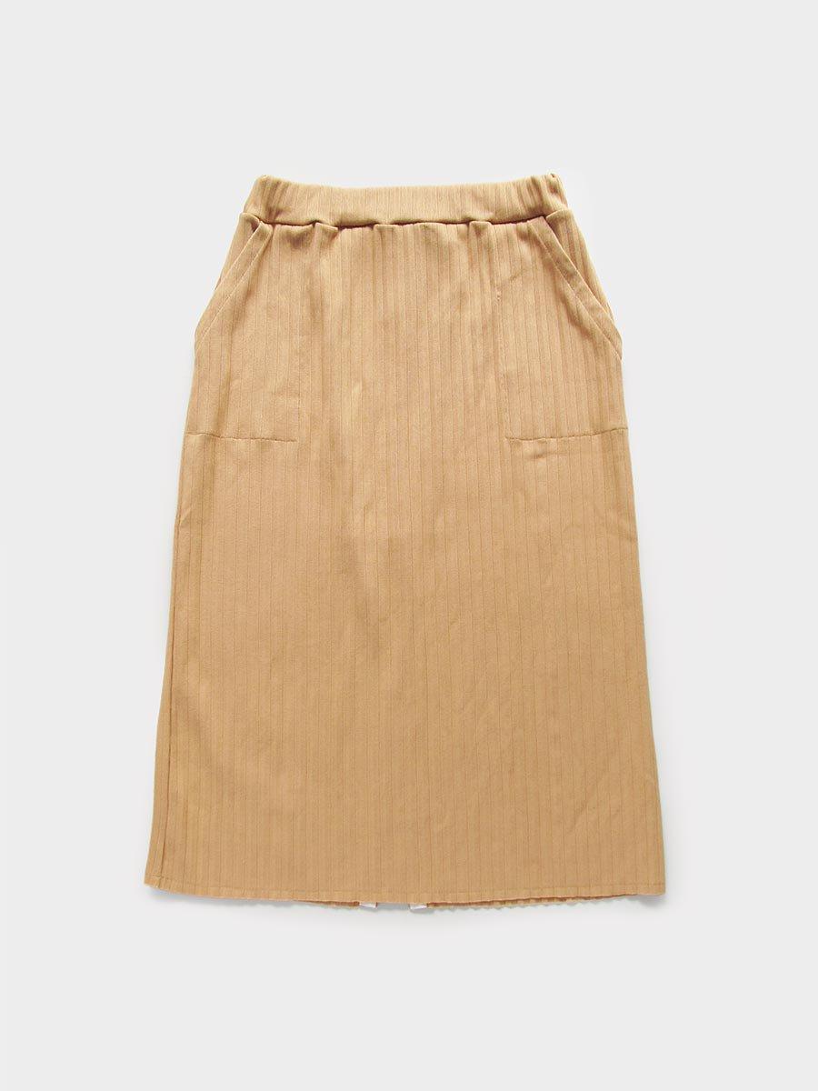 リブプリーツスカートセット(オークル) 10