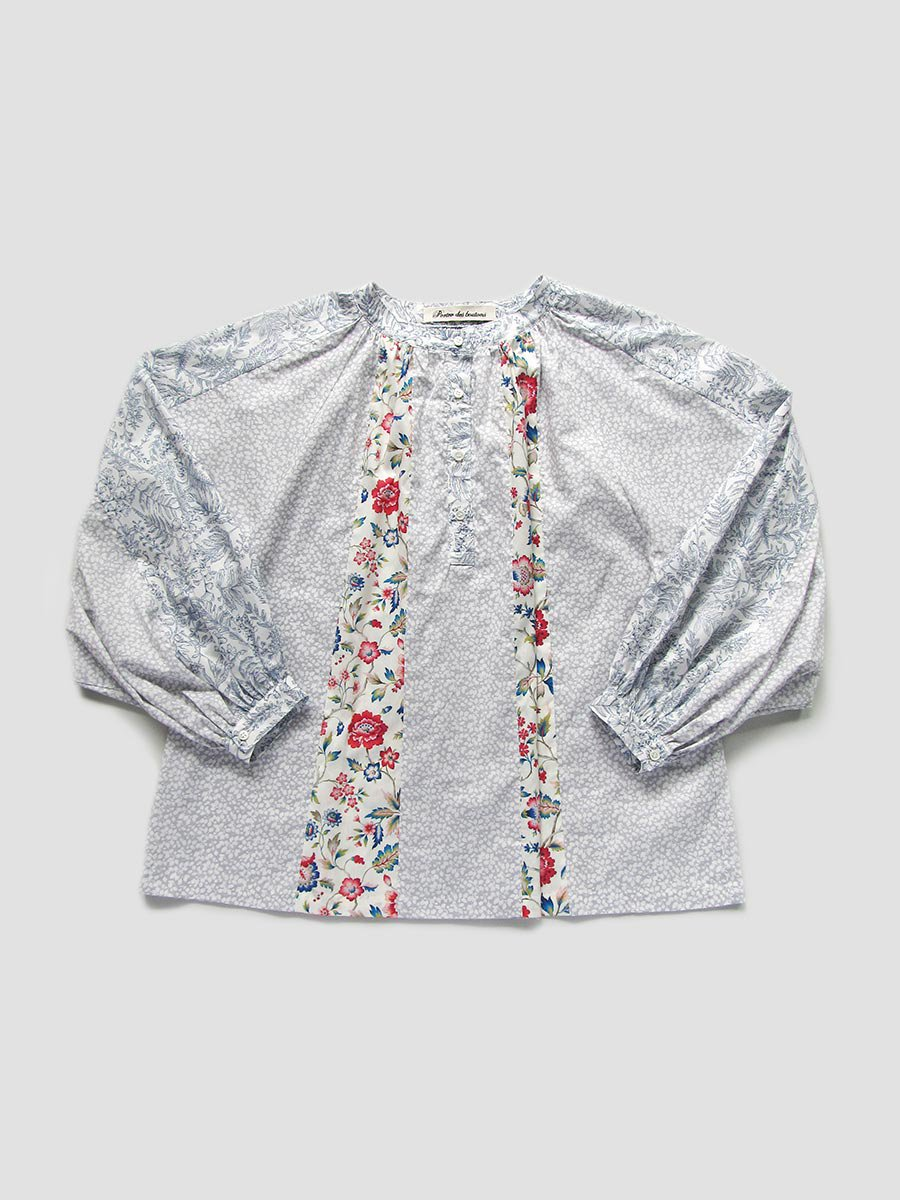 LIBERTY PRINTコンビネーションブラウス(2021 Pre-Spring Collection) 2