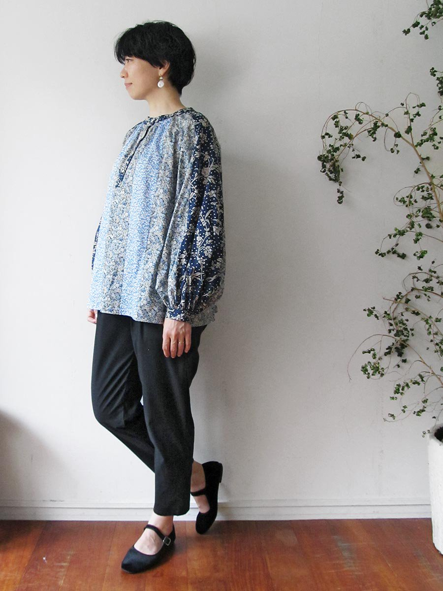 LIBERTY PRINTコンビネーションブラウス(2021 Pre-Spring Collection) 19