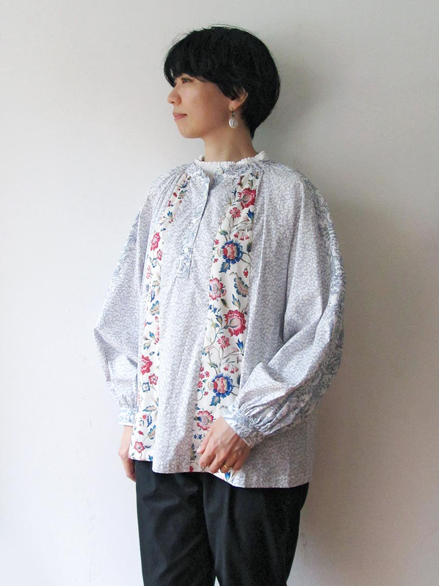LIBERTY PRINTコンビネーションブラウス(2021 Pre-Spring Collection) 8
