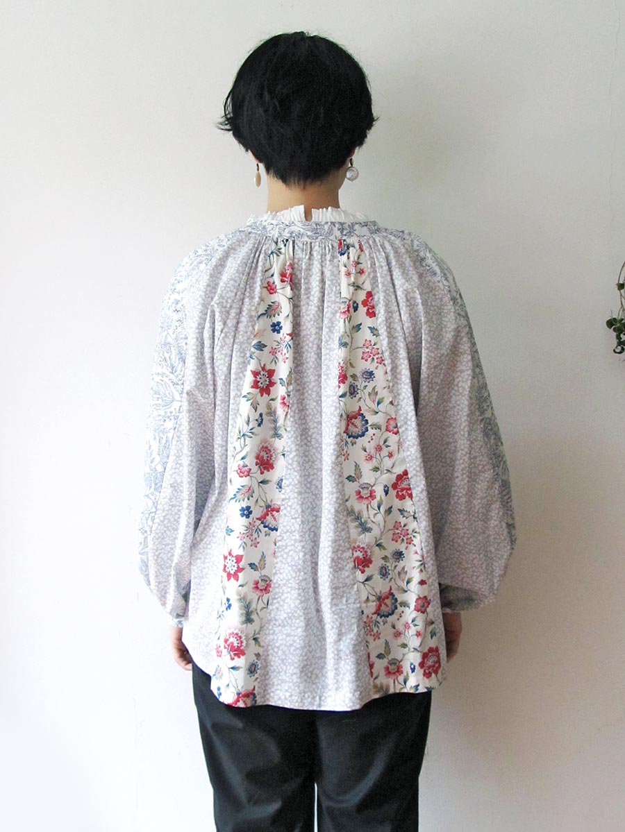 LIBERTY PRINTコンビネーションブラウス(2021 Pre-Spring Collection) 9