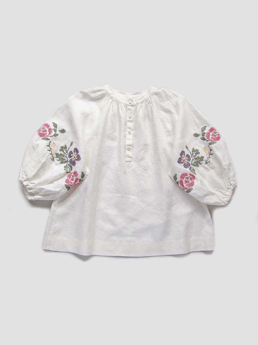 """""""花と鳥""""刺繍ブラウス(2021 Spring Collection) 2"""