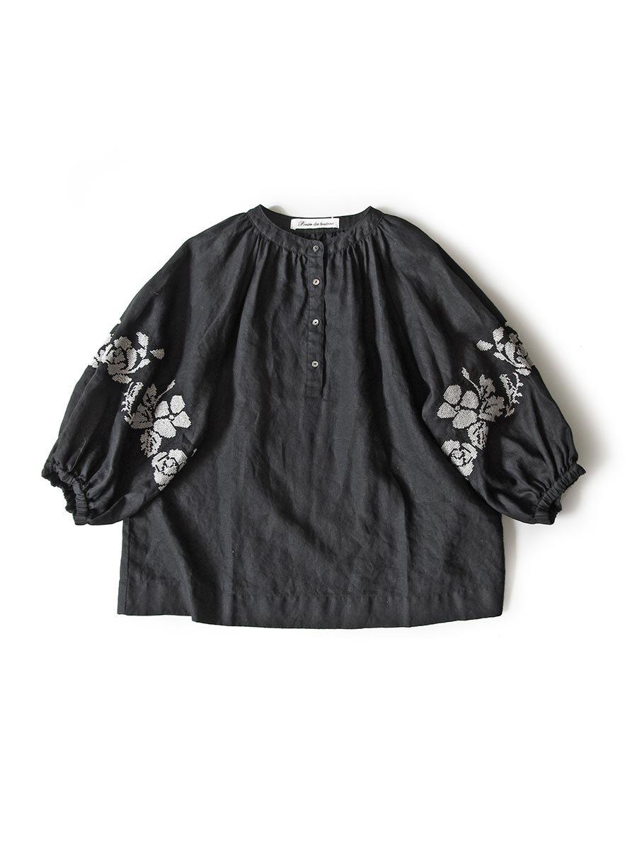"""""""花と鳥""""刺繍ブラウス(2021 Spring Collection) 8"""
