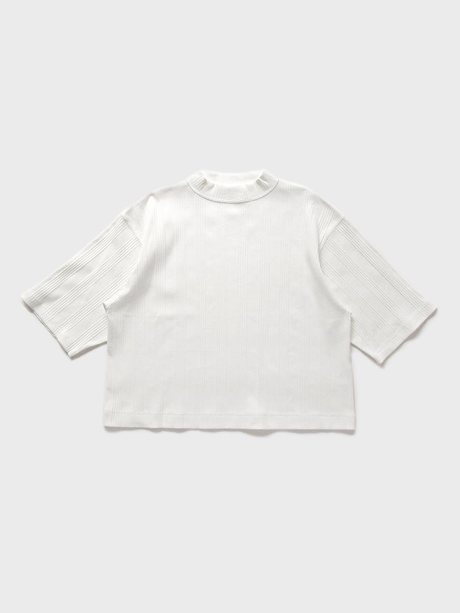 6分袖モックネックテレコプルオーバー(2021 Spring Collection) 2