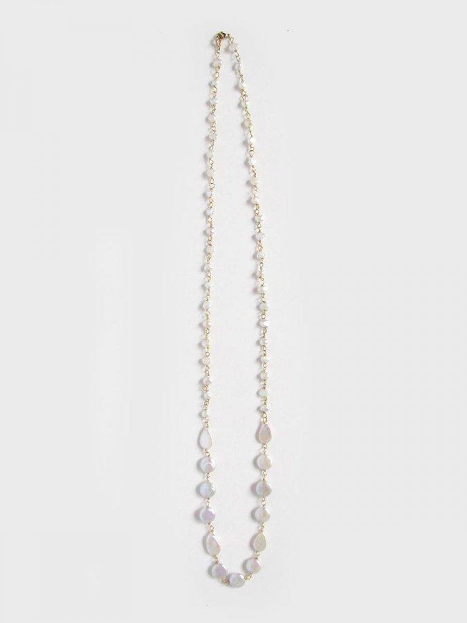 フラットパールネックレス(2021 Spring Collection) 1