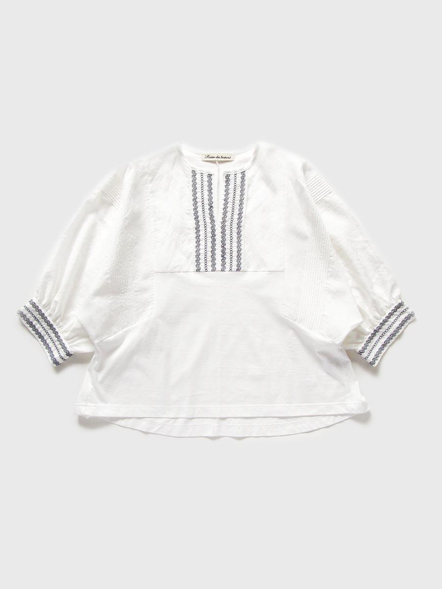ピンタック×刺繍プルオーバー(2021 Summer Collection) 2