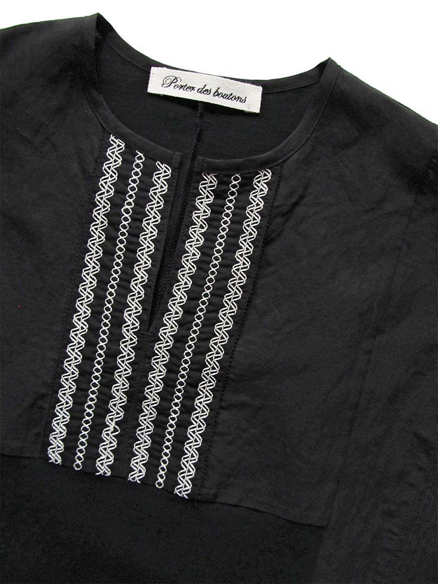 ピンタック×刺繍プルオーバー(2021 Summer Collection) 12