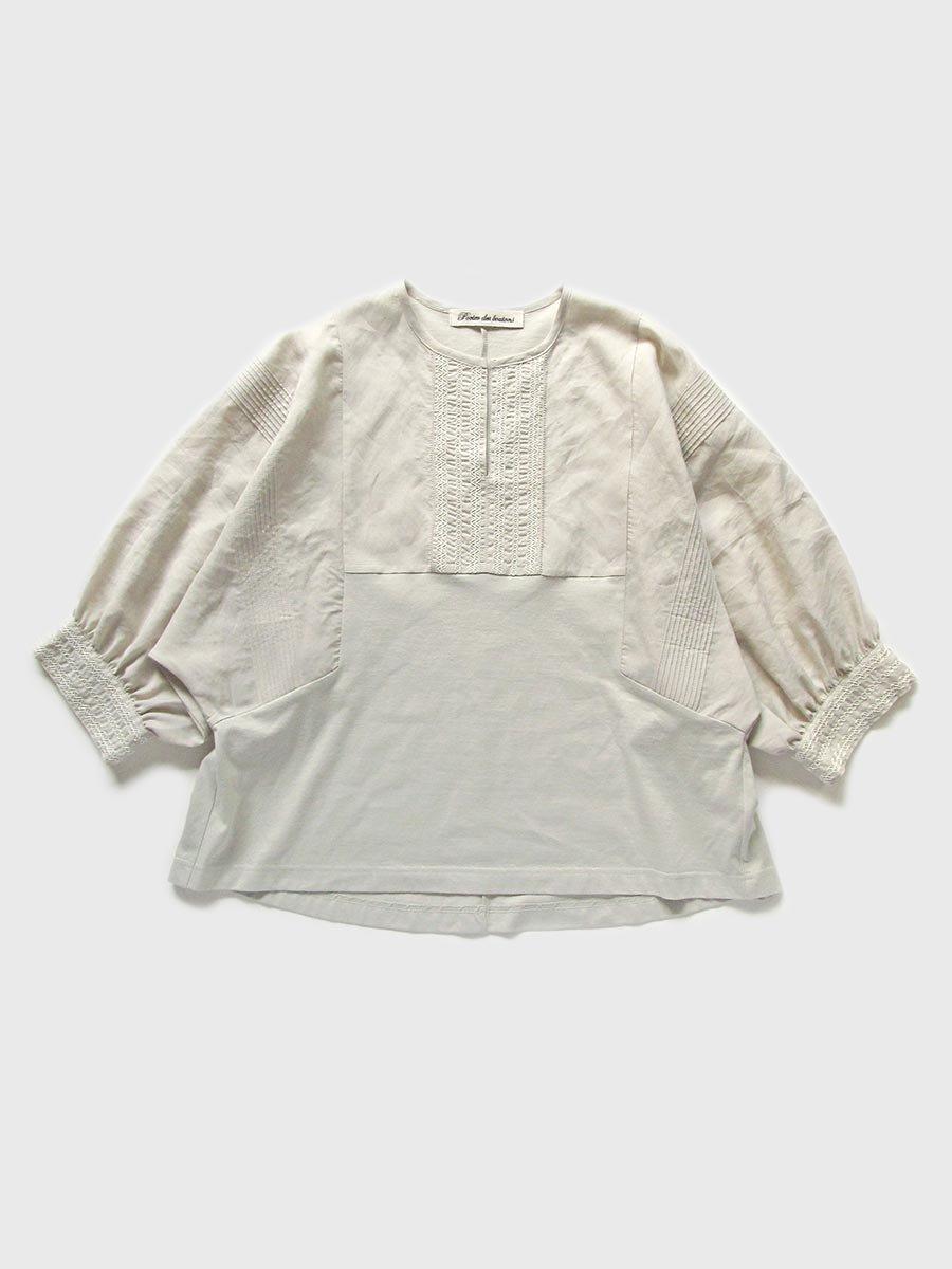 ピンタック×刺繍プルオーバー(2021 Summer Collection) 16