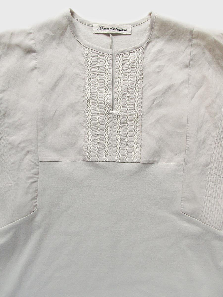 ピンタック×刺繍プルオーバー(2021 Summer Collection) 17